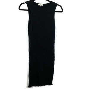 Wilfred Free Black Ruffle Sleeveless Bodycon Dress